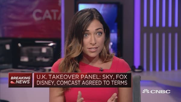 Fox-Comcast bidding war for Sky to enter showdown at takeover auction