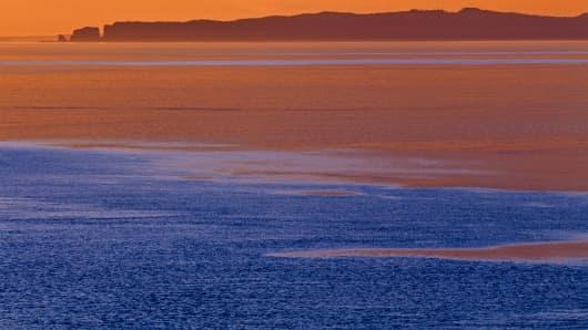 Bay of Fundy at dawn Cape d Or Nova Scotia Canada