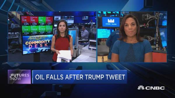 Trump blasts OPEC, sends oil lower