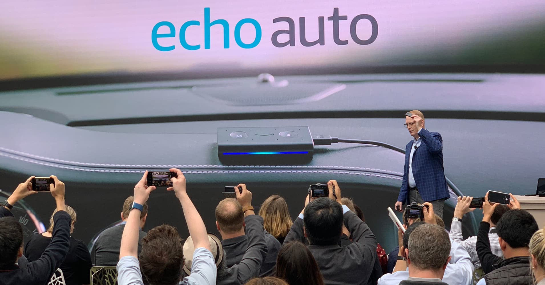 Amazon introduces a ton of new Alexa-enabled products, including a microwave and car gadget