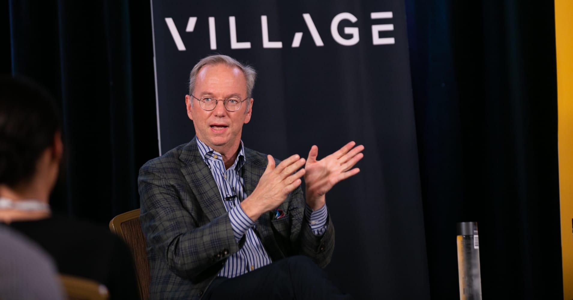 Eric Schmidt at Village Global VC in San Francisco.