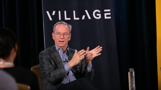 Eric Schmidt at Village Global VC in San Francisco.