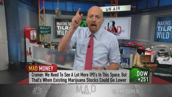 'People too excited' about pot stocks and 'it will end badly': Cramer