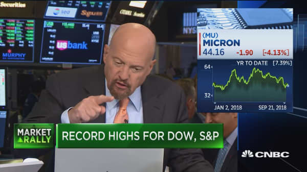 Jim Cramer: People who are selling their Micron stock are selling it back to Micron