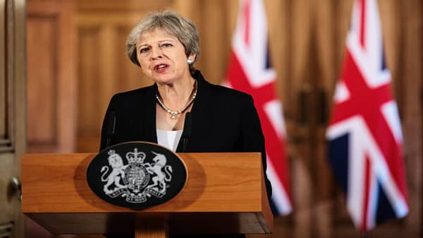 British PM May: I will not overturn result of Brexit referendum