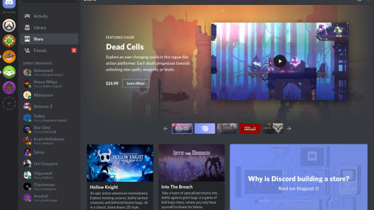 Discord's new game store is currently live as a beta version.
