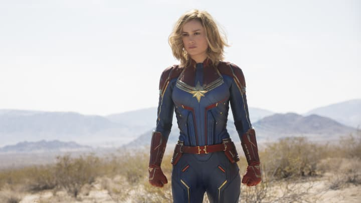 Brie Larson as Captain Marvel, the first female superhero lead for Disney's blockbuster comic book movie business, and 'the most powerful character' Marvel has come up with yet, according to the company's president.