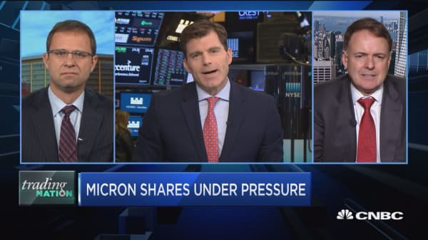 Trading Nation: Micron shares under pressure