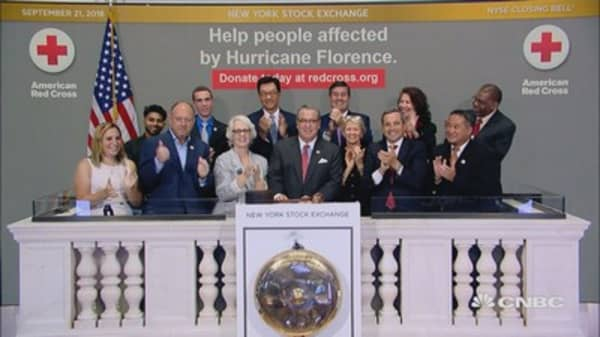 NYSE welcomes American Red Cross to ring Friday's closing bell