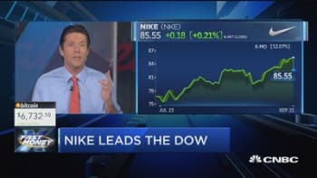 Nike driving the Dow to record highs in 2018