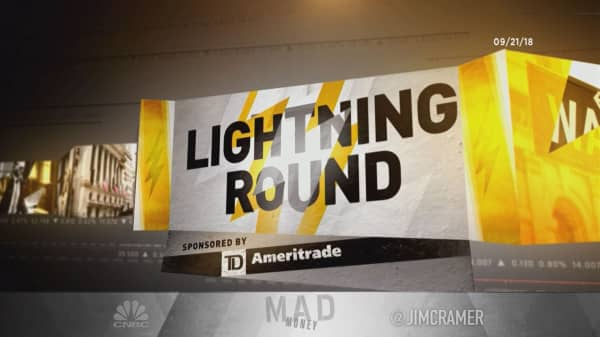Cramer's lightning round: Don't get speculative with oil and gas stocks