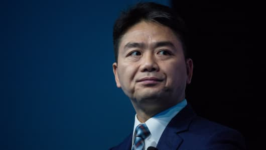 Billionaire Richard Liu, founder and chief executive officer of JD.com Inc., attends the Wall Street Journal DLive Asia Conference in Hong Kong, China, on Friday, June 9, 2017. The conference runs from June 8 to 9.