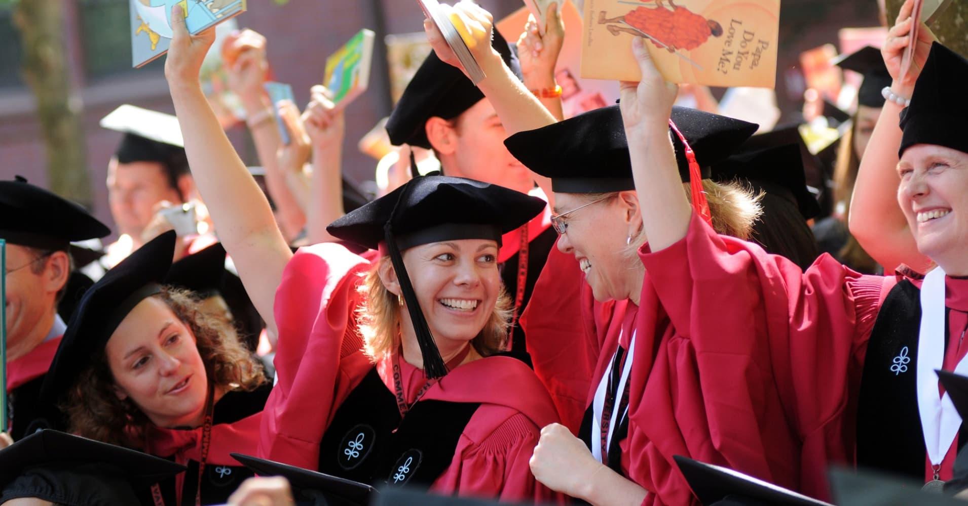 Graduates From Harvard University in Cambridge, Massachusetts.