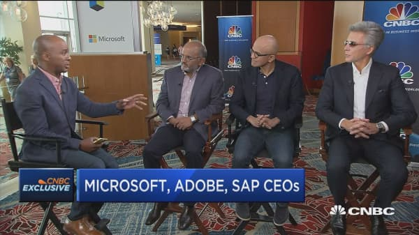 Microsoft, Adobe and SAP CEOs on Open Data Initiative