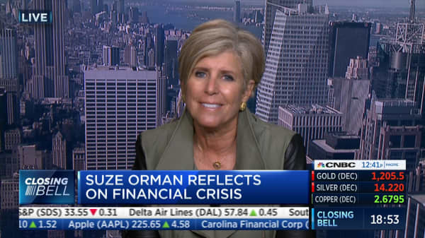 Suze Orman: Reflecting on the 10 year anniversary of the Wall Street financial crisis