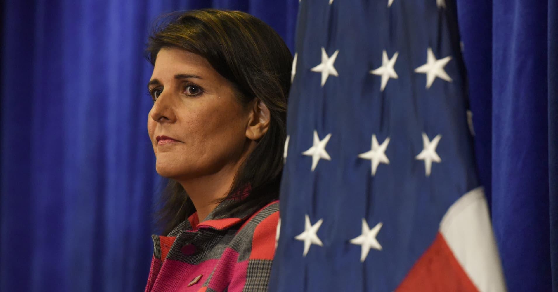 Nikki Haley resigns as Trump's UN ambassador: Source