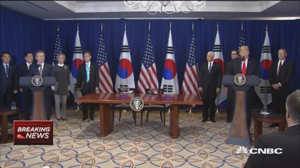Trump: New South Korea trade deal to reduce our trade deficit