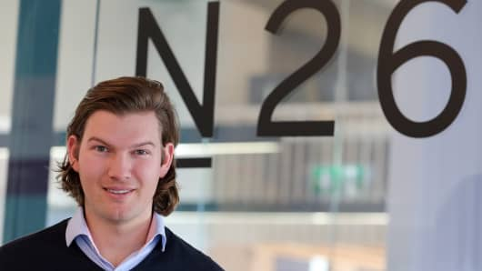Valentin Stalf, CEO of N26, at the bank's office in Berlin, Germany.