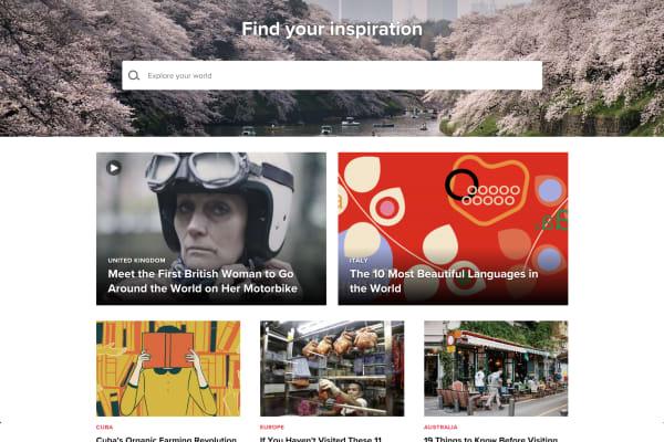 A screenshot of travel website Culture Trip