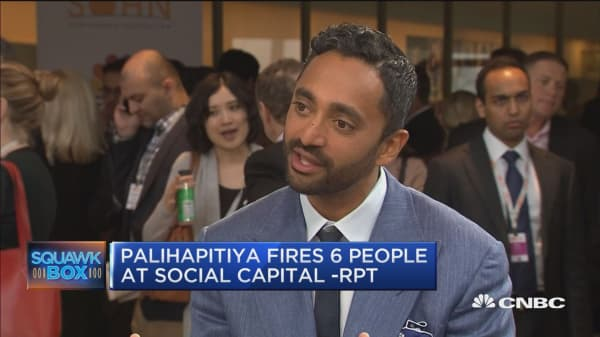 Palihapitiya fires six people at Social Capital: Business Insider