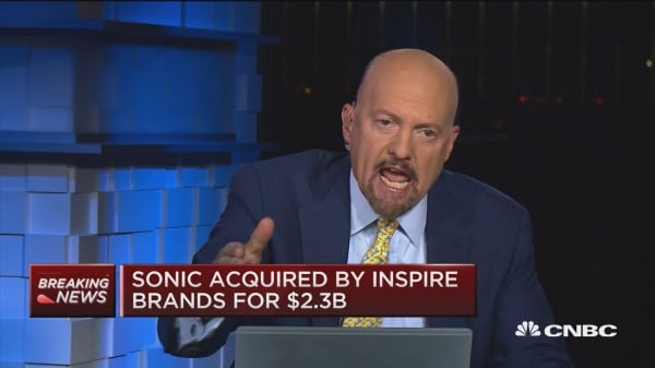 Sonic- Inspire Brands deal makes you stop and wonder if you want to sell stocks, says Jim Cramer