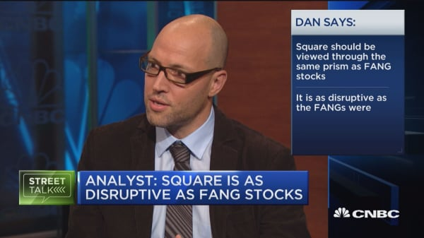 Analyst says Square is just as disruptive as a FANG stock