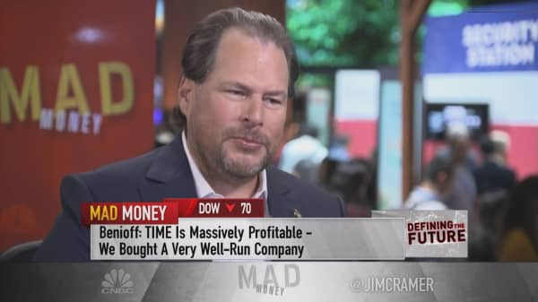 CRM CEO Benioff on Apple, Time Magazine and Facebook trust issues
