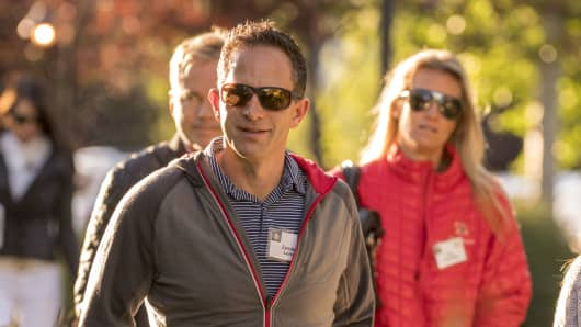 Zander Lurie, chife executive officer of SurveyMonkey.com LLC, arrives for the morning sessions during the Allen & Co. Media and Technology Conference in Sun Valley, Idaho, U.S., on Thursday, July 7, 2016.