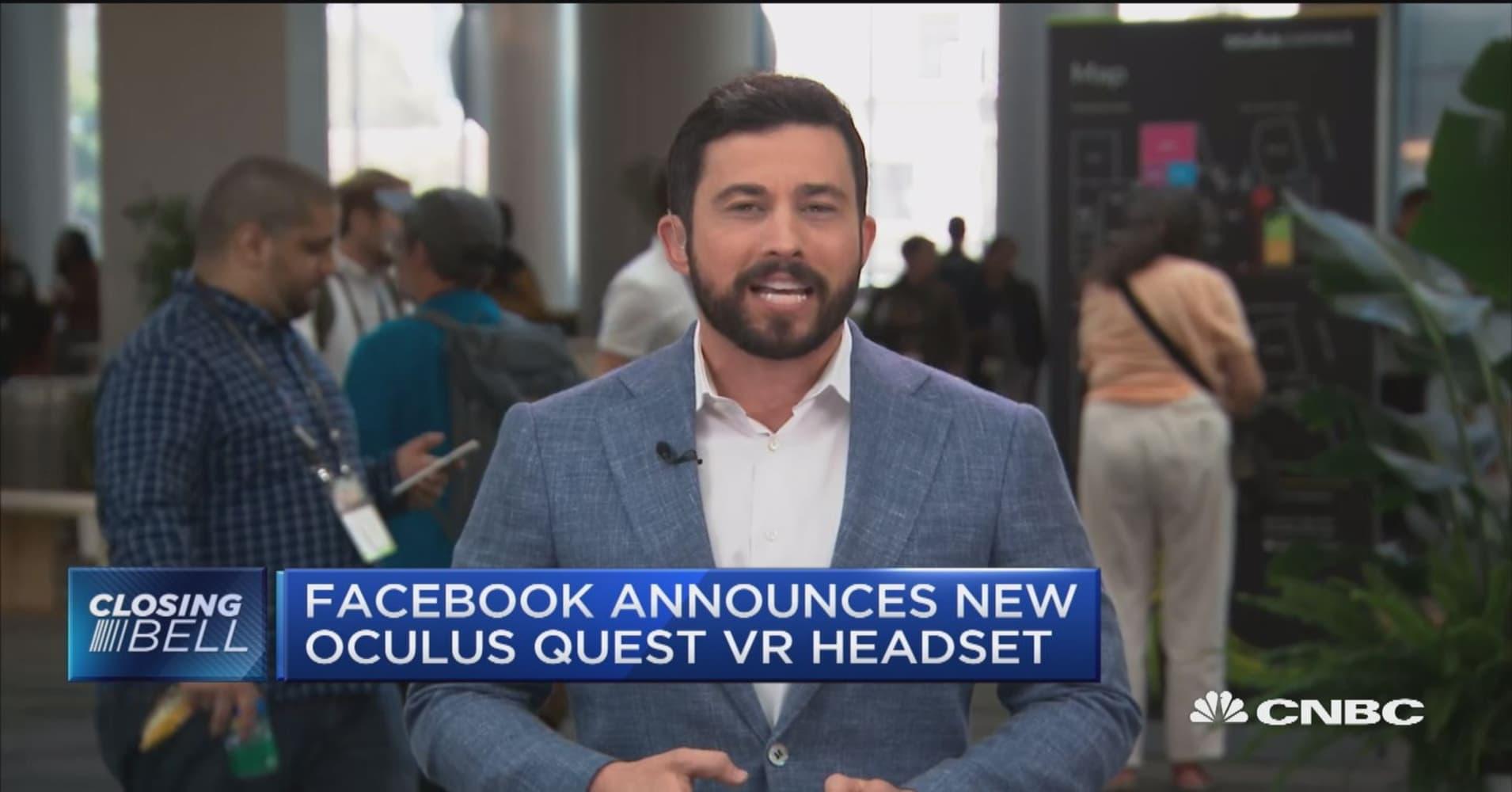 Facebook announces new Oculus Quest VR headset