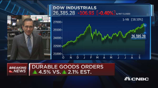August durable goods up 4.4 percent