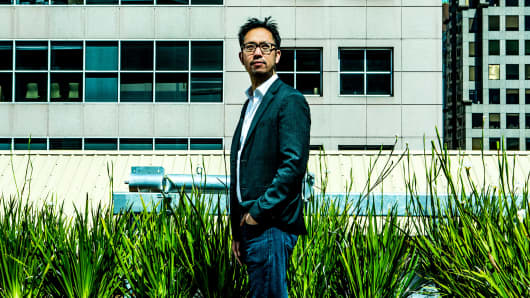 Eric Wu, founder and chief executive of Opendoor, a start-up company that flips homes, at their San Francisco headquarters, May 18, 2017.