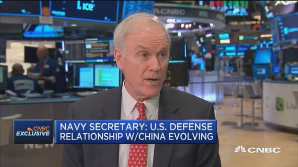 Navy secretary on China, Iran and defense spending