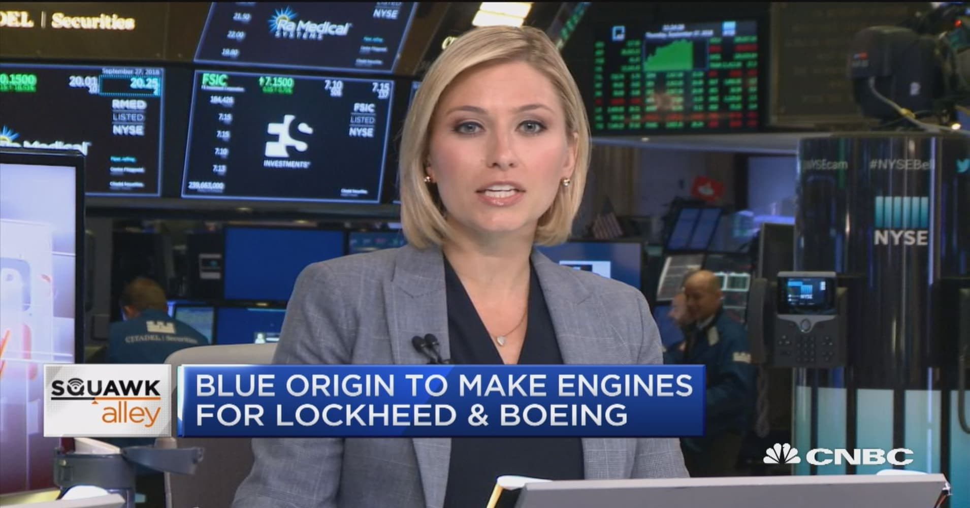 Blue Origin to make rocket engines for Lockheed and Boeing