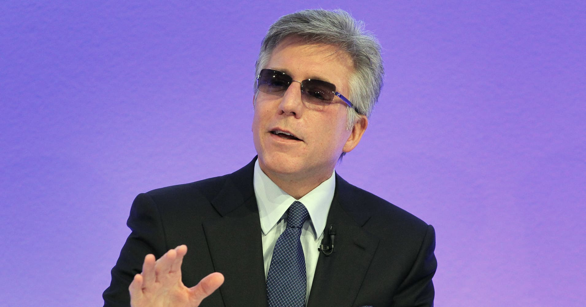 Bill McDermott, CEO of German software giant SAP, addresses the media during the company's annual financial statement at it's headquarters in Walldorf near Heidelberg, southern Germany, on January 24, 2017.