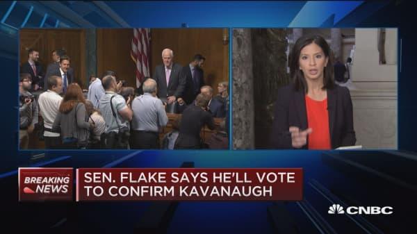 Sen. Flake (R-Ariz.) says he'll vote to confirm Kavanaugh