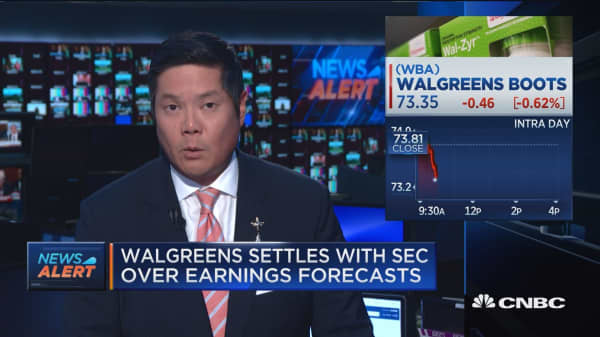 Walgreens settles with SEC over earnings forecasts