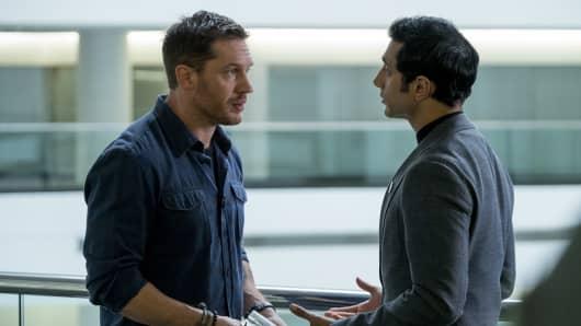 Tom Hardy and Riz Ahmed star in Venom