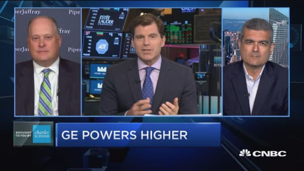 Trading Nation: GE powers higher