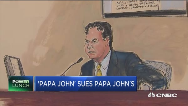 Papa John's founder mentions ouster 'intuition'