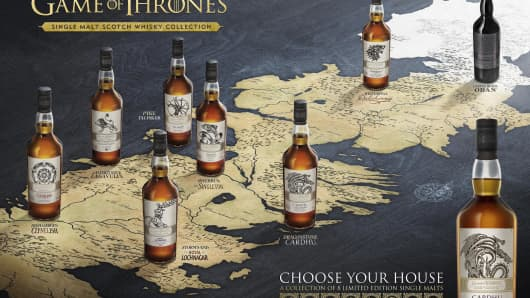 Game of Thrones 7 Kingdom Scotch collection.