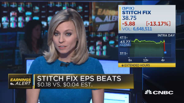 Stitch Fix EPS beats, though the stock is seeing downward pressure
