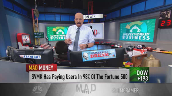 Cramer worries SurveyMonkey 'might be a dinosaur,' prior to IPO