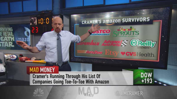 'Think twice before you sell' companies competing with Amazon: Cramer