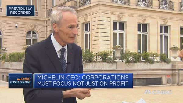 Michelin CEO: Corporations need to make capitalism sustainable