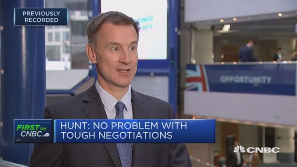 Jeremy Hunt defends controversial comments about the EU