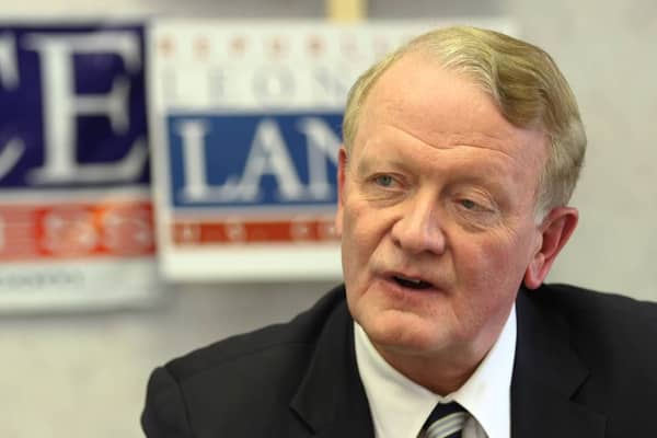 Republican Rep. Leonard Lance at his campaign headquarters in New Jersey's 7th Congressional District.