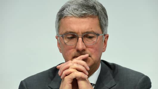 Rupert Stadler, CEO of German carmaker Audi, March 3, 2016.