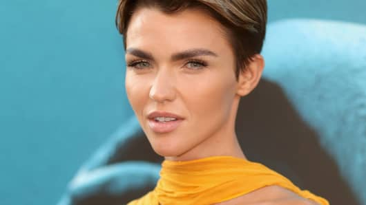 Ruby Rose attends Warner Bros. Pictures And Gravity Pictures' Premiere of 'The Meg' August 6, 2018 in Hollywood, California.