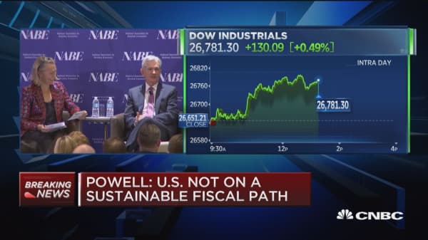 Powell says now is too early to see effects from trade policy on economy