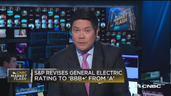S&P revises GE from A to BBB+